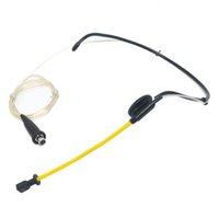 Wholesale Wireless Microphone Headset Headworn - WP-40 Wired Sweatproof Headset Microphone Waterproof Headworn Mic for Wireless Beltpack Transmitter 2pcs lot