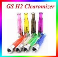 Wholesale Gs Atomizers - GS H2 Atomizer 510 atomizer e cig atomizer rebuildable atomizer GS-H2 ego vision clearomizer ego-t atomizer ReplaceVS CE4 Atomizer