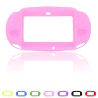 Wholesale Cases For Ps Vita - Silicone shell Protective silica gel Cover Skin Case for PlayStation PS Vita PSV2000 Case DHL FEDEX FREE SHIPPING