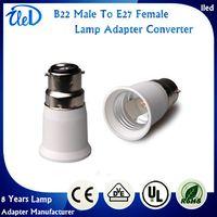Wholesale E27 B22 Adaptor - B22 male to E27 female lamp adapter converter B22 to E27 lamp holder adaptor