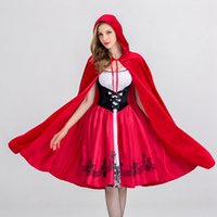 Kostüme Halloween Little Red Cap Kleidung Nightclub Queen Kleid Erwachsene Cosplay Service Party geladen Little Red Riding Hood