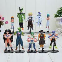 Wholesale Akira Toriyama - 10pcs set Japan Anime Akira Toriyama Dragon ball Z Bulma Cell Goku Freeza PVC Figures Toys