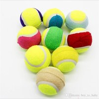 Wholesale Dog Activity Ball - Hot Selling! Best Dog Chew Toys Tennis Ball Polychromatic 6.5cm Outdoor Activity Rraining Ball Dog toy with Stretch Chew Toys
