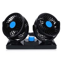 pedestal plastic ce portable mini 12v double head car auto cooling air fan 360 degree rotatable vehicle cooler fan air conditioner for car - Portable Air Conditioner For Car