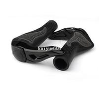 ingrosso impugnare la barra-Black Cycling Mountain MTB Bike Bicycle Lock-On Copri manubrio Maniglia Grip Bar End