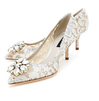 lila zoll high heels großhandel-2018 New Style Fashion Wholesale High Heel White Pointed Toe For Bride Platform Bride Wedding Shoes H129