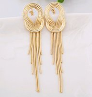 Ear Clip Fringe Earrings Jacket Exaggerated Star Style Long Tassel Layers Snake Chain Coréenne Nupti Evening Dinner Party oreille Boucles d'oreilles