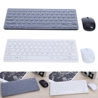 Ultra Slim Thin Design Keyboard Set Branco Preto 2.4GHz Mouse de teclado sem fio para Home Office PC Laptop Desktop Computer Keyboard Set