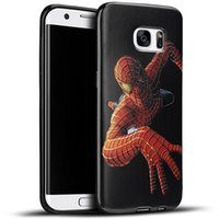 Wholesale Silicone Iron Cover - For Samsung Galaxy S7 edge Embossed 3D Paint Soft TPU Case Spiderman Avengers Superman Captain America Iron Man Cartoon Cover Silicone