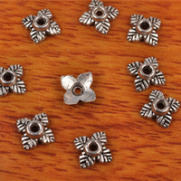 Wholesale 7mm Spacer Bead Bracelet - Hualu 7278 2000 pieces 7*7mm Flower Bead Caps Spacer Retro style pendant Connector Tibetan Silver Jewelry Making Fingding necklace Bracelet
