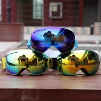 Wholesale Goggle Winter - Wholesale- Winter Skiing Eyewear Ski goggle UV400 Protection double lens with mirror coating HD multi color Eye Protection Glasses
