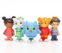 Wholesale Daniel Tiger Neighborhood - 5pcs set New Tigers Neighborhood Daniel Tiger and Friends Anime Action Figure Education Anime Doll Kids Toys For Children Toy Christmas Gift