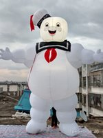 Wholesale inflatable huge - free air blower white huge stay puft inflatable cartoon for business used with custom made led