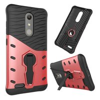 Armor 360 Degree Flip Stents Case para ZTE Zmax Pro Z981 Motorola Moto E3 Z Force Sony Xperia E5 Shockproof Hard PC TPU Stand Skin Back Cover