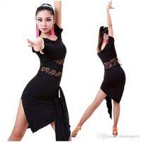 Wholesale Red Salsa Skirt - 2017 Latin Dance Dress Women Salsa Performance Dresses Competition Dance Costume Cha Cha Samba Rumba Tango Practice Dress Skirt