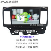 Wholesale Rds Transmitter - Android 6.0 Car DVD Player for Mitsubishi Lancer with Radio RDS DAB+ GPS free map BT swc mirror link quad core WIFI
