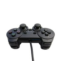 Wholesale Ps2 Controller Wired - Analog Wire Controller Double Vibration Shock for Sony PlayStation 2 controller with Black