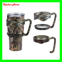 Wholesale Novelty Plastic Mugs - Novelty 20 30oz Camouflage Yeti RTIC Cups Handles Nonslip Plastic CAMO Holder for Yeti Cups Mugs YETI Rambler Tumbler Handles