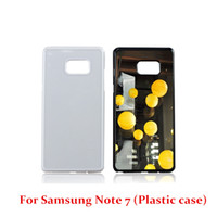 Wholesale Sublimation Plating Case Iphone - For Iphone 7 7 Plus Samsung NOTE 7 S7 S7edge DIY Sublimation Heat Press PC Cover Case With Aluminium Plates DHL Free