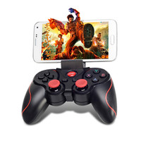 Wholesale Android Phone Tv Remote - Terios T3 Wireless Bluetooth Gamepad Joystick Game Gaming Controller Remote Control for Samsung S6 S7 HTC Android Smart phone Tablet TV Box