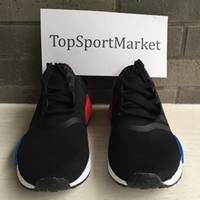 Wholesale Men Micro - 2016 NMD R1 Primeknit Sneaker Runner Boost Micro Pacer Rising Star Boston Super Men Women Running Sport shoes black red grey Shoes