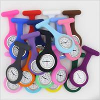 ingrosso orologi al quarzo per infermieri-Orologio da infermiera in silicone medico modelli svegli Fob orologio al quarzo Orologio da medico Orologio da tasca Orologi medici Fob
