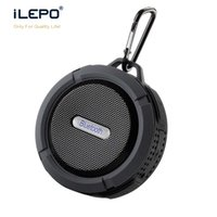 Wholesale Portable Usb Driver - Mini C6 Bluetooth Speaker Waterproof Shower Portable Speakers With 5W Strong Driver Hook And Suction Cup Music Player With Retail Package