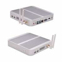 Wholesale Mini I3 - Wholesale-Ubuntu linux mini pc 12v nuc computer server PXE boot thin client x86 core I3-4005U 1080P QOTOM-T4005U
