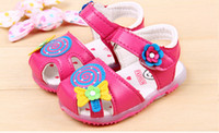 Vente en gros-Nouveau printemps et automne Chaussures Toddler Chaussures Femme Chaussures Féminin Lollipop Féminin Soft Bottom Enfants Safe Sandals Summer Girl Sandales