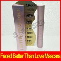 Wholesale shipping roll - 2017 Newest Hot Faced Mascara Better Than Love Better Than sex mind--blowing lashes thick fiber long roll waterproof free shipping