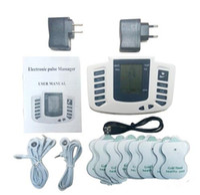 kas masaj makineleri toptan satış-Elektrik Stimülatörü Tam Vücut Kas Terapi Masaj Relax Masaj Darbe onlarca Akupunktur Sağlık Makinesi 16 Pedleri