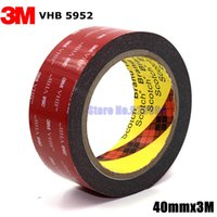 Wholesale 3m Sided Vhb Tape - Wholesale-3M VHB 5952 Black Heavy Duty Mounting Tape Double Sided Adhesive Acrylic Foam Tape 40mmx3Mx1.1mm