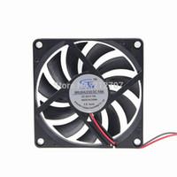 master dc al por mayor-Al por mayor- 5pcs plástico DC 24V 2Pin 8CM 80MM 8010 80 x 80 x 10 mm Master Cooler Fan
