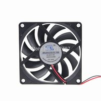 8 см вентилятор 24v оптовых-Wholesale- 5pcs Plastic DC 24V 2Pin 8CM 80MM 8010 80 x 80 x 10mm Master Cooler Fan