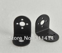 2pcs / lot Noir L support en forme standard Support Robot Servo Arm Head Smart Parts Car Robot Accessoires