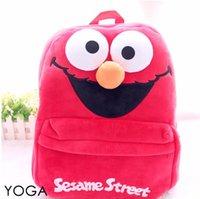 Wholesale Sesame Street Bags - Gift for baby 1pc 45cm cartoon big Sesame street funny plush backpacks students shoulder bag Satchel children toy