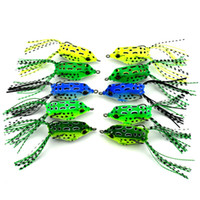 Wholesale Frog Shapes - New Mini Frog Shape Double Hook Frog Lures Baits 5.5cm 8g Soft Bait Small Frog Fishing Baits