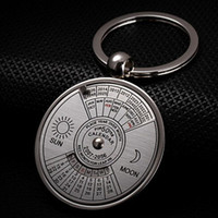 Wholesale Calendar Accessories - 2016 Hot Fashion Accessories Super Perpetual Calendar Unique Metal Key Chain Ring 50 Years Keyring KeyChain