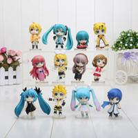 Wholesale Vocaloid Rin Figure - 12pcs set 6.5cm Vocaloid HATSUNE MIKU Family Figures Rin Len Ruka Kaito Meiko Anime Figure Toys Free shipping