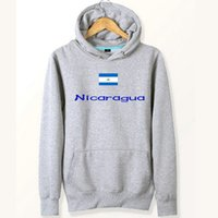 Nicaragua Flagge Hoodies Banner natürliche Baumwolle Sweat-Shirts Country Fleece Kleidung Pullover Sweatshirts Outdoor-Sport-Mantel Gebürstete Jacken