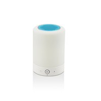 Bluetooth Smart Lighting Speaker with FM Fashion Round High-End Speaker Always On Touch Lamp Night Lights