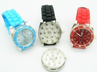 Wholesale Spike Watches - Watch Grinder Heavy Spike Teeth Tobacco Crusher 2 in 1 Watch Style Herb Spice Pollen Mills Assorted Colors Wrist Watch Bands