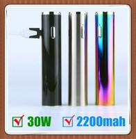 Wholesale E Cigarette Strong - Authentic vape mod TVR 30W Mod e cigarette 30W Strong output Wattage Battery USB Passthrough 2200mAh box mod VS iStick mods vape mod