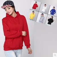 Wholesale Spring Sweaters Zippers - New 2016 Men's Women's Fashion Fleece Hoodies Autumn Spring Hoodie Lovers Sweater Women's Pullover Men's Zipper Hooded 6 Colors W001 ZS018