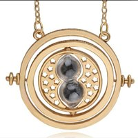 Wholesale Globe Sphere - armillary sphere celestial globe necklace Time converter Time travel machine movable circle pendant Colorful sand Hourglass necklace x351