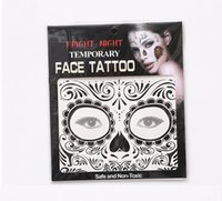 Wholesale DHL Facial Temporary Tattoos Fright Night Temporary Face Tattoo Body Art Chain Transfer Tattoos Temporary Stickers Styles