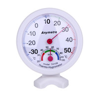 Wholesale Measure Humidity - Round Shape Mini White Indoor Outdoor Analog Centigrade Thermometer Hygrometer Temperature Humidity Meter Measuring tools Fast shipping
