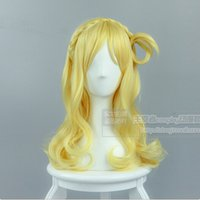 Wholesale Blonde Hair Men - Costumes Accessories Cosplay Costumes High Quality Anime LoveLive!Sunshine! Love Live Wig Mari Ohara Blonde Mixed Cosplay Hair Wigs