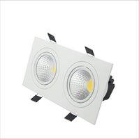 Wholesale downlight cob 14w for sale - Group buy Super Bright Recessed LED Dimmable head Square Downlight COB W W W w LED Spot light Ceiling Lamp AC V V