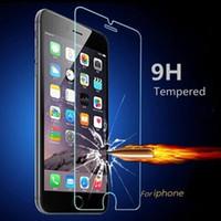 iphone klares frontglas großhandel-Stoßfest gehärtetes Glas Display Schutzfolie für Apple iPhone 4 s 5 s 5c 6 6 s 7 Plus verstärkt Frontfolie klar Extreme schützen